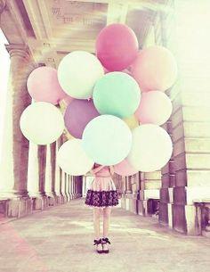 Balloons, pastel