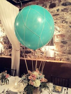 These turned out superb! Scorching air balloon centerpiece, journey impressed child present....  Learn even more at the photo link Learn more at http://store4all.org/bbshower/these-turned-out-amazing-hot-air-balloon-centerpiece-travel-inspired-baby-show/