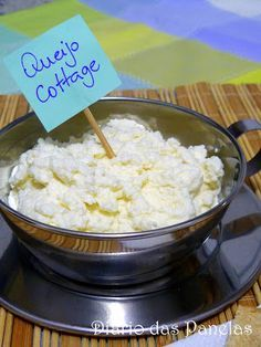 Diário das Panelas: Queijo cottage caseiro Queijo Cotage, Food Net, Light Diet, Cottage Pie, Pie Cake, Pie Dessert, Kefir, Pasta, Cheese Recipes