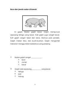Bahasa Melayu Pemahaman Tahun 1 Kindergarten Reading Corner, Kindergarten Test, Preschool Homework, Preschool Learning Activities, Preschool Printables, Preschool Worksheets, Free Reading Comprehension Worksheets, Malay Language, Grammar And Vocabulary