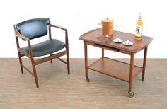 VINTAGE 1970'S TEAK DANISH DRINKS/SERVING TROLLY in Home, Furniture & DIY, Furniture, Sideboards, Buffets & Trolleys | eBay