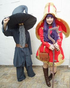 League of Legends - Lulu and Greybeard Veigar by mandykodama.deviantart.com on @deviantART
