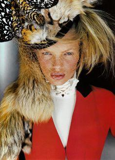 Christian Dior Fall 1999 Haute Couture  Couture du Monde Magazine: Vogue Paris September 1999Photographer: Ruven AfanadorModel: Esther Canadas