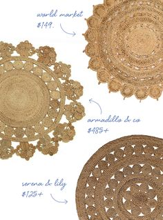 Image from http://www.cocokelley.com/wp-content/uploads/2014/03/round-jute-rugs.jpg.