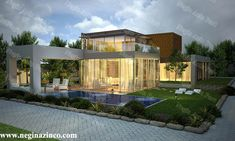 طراحی-و-ساخت-ویلا Modern Villa Design, Mansions, House Styles, Home Decor, Mansion Houses, Homemade Home Decor, Villas, Fancy Houses, Interior Design