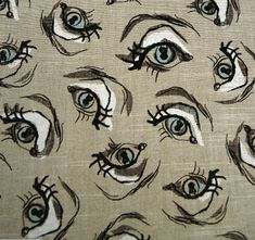 Garbo's Eye from the Cecil Beaton fabric collection.