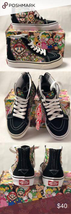 6d603be799876d Vans Kids SK8-HI ZIP nintendo Mario   Luigi Black. Vans Kids SK8-HI ZIP  nintendo Mario   Luigi Black. Size 11 Vans Shoes Sneakers