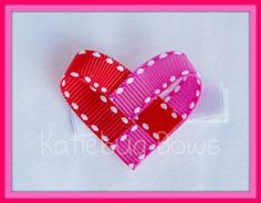 .woven heart sculpture ribbon bow