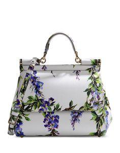 Dolce & Gabbana: Miss Sicily Floral Satchel $2,145