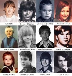 Before They were Famous. Patrick Swayze is the spitting image of my husband when he was little!