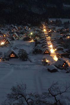 World Heritage, Shirakawago : Ogimachi Gassho Village -- Shirakawago Ogimachi view 060109 #2 **** By tsuda