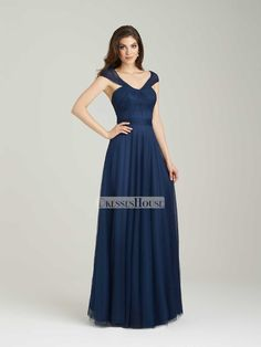 Beautiful A-line Ruched Bodice Floor Length Bridesmaid Dress BD10452