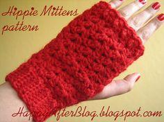 crochet mittens: hippie mittens - fingerless gloves - hands warmers (Fall/Winter)