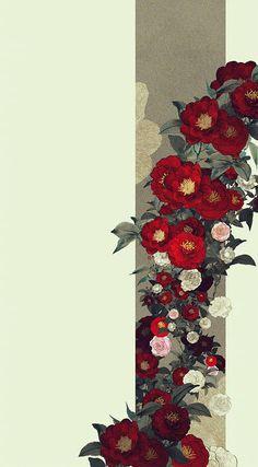 Flower Backgrounds, Flower Wallpaper, Wallpaper S, Wallpaper Backgrounds, Aesthetic Iphone Wallpaper, Aesthetic Wallpapers, Oriental Wallpaper, Chinese Art, Cute Wallpapers