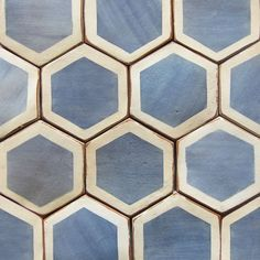 Chunky hexagonal cement tiles, unidentified.