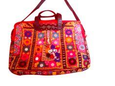Ethnic Mirrorwork Hobo Handbag Pakistani Embroidery Banjara handbag and purses for ladies. Indian traditional and colorful Christmas gifts from Kirti Textile