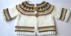crochet baby sweater pattern free easy - Buscar con Google
