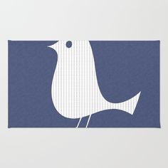 Funny Paper Bird on Blue Rug from $28.00