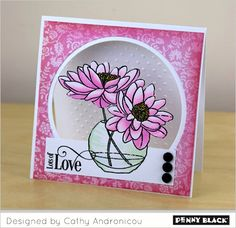 Featuring Penny Black stamps and dies-- click through for instructions