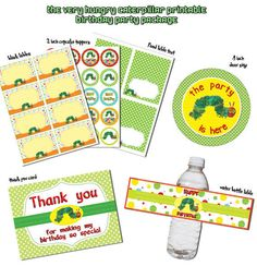 Instand DL -The very hungry caterpillar PARTY Package Printable Birthday Package (NON Personalized) by RavenJony on Etsy https://www.etsy.com/listing/176905429/instand-dl-the-very-hungry-caterpillar