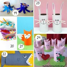 80 bricolages pour enfants à faire avec des rouleaux de papier toilette - Crafts For Kids To Make, How To Make, Toilet Paper, Origami, Creations, Activities, Christmas Ornaments, Holiday Decor, Rolls