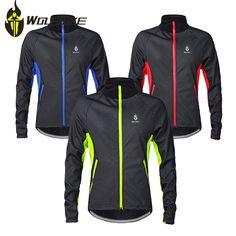 WOLFBIKE Long Sleeve Winter Warm Cycling Jersey Outdoor Sports Windproof Waterproof Bicycle Jacket Coat Sportswear Men Black #Affiliate