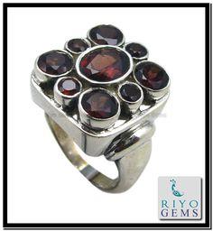 Garnet Sterling Silver Ring Collection by Riyo Gems http://www.riyogems.com