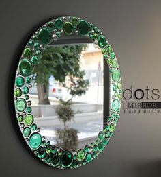 Dots Wall Mirror - Dots wall mirror will lighten your day with its fresh apple green tones. Other colors and clear version also available up...