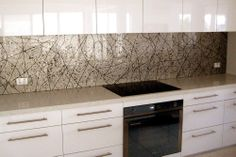 Hand painted glass kitchen splashback - Glass Xpressions, Molendinar - http://www.glassxpressions.com.au