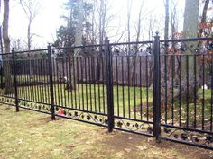 Decorative Wrought Iron Fencing