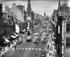 Aberdeen,Union Street Granite City, City By The Sea, Silver City, North Sea, Aberdeen, Motel, Old Pictures, Scotland, Street View