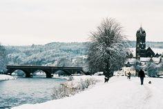 Tweed Bridge and the Parish Church, Snow on Peebles | Flickr - Photo Sharing!