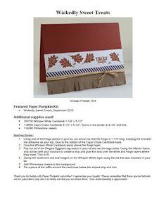 Stampin' Up! Paper Pumpkin September 2015 Kit Bonus Project. Free PDF on my blog today! Debbie Henderson, Debbie's Designs.