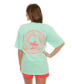 Carly Vneck S/s | Island Reef | The Southern Shirt Company