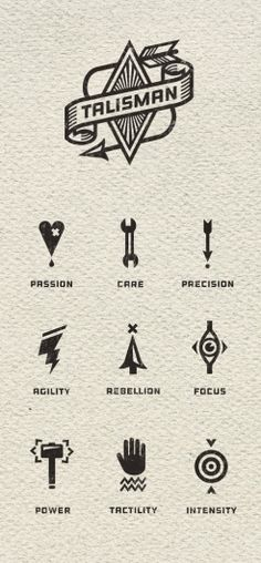 interesting and inspiring pictograms for skills - Talisman Bike Gear