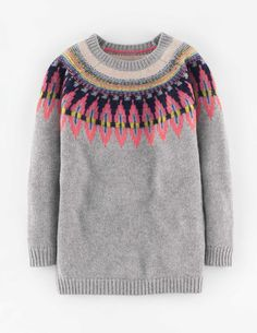 I like to pretend I am from the UK ;) I always like the Fair Isle motif - Fair Isle Sweater Clothing at Boden Fair Isle Pullover, Motif Fair Isle, Fair Isle Knitting, Warm Outfits, Knit Fashion, Girls Sweaters, Knitwear, Knit Crochet, Jumpers