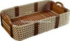Rope and teak shoe baskets from Home & Yacht Finest Bed Linen