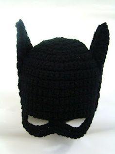 Crochet Kids Batman Hat! i wish davis had one of these when he was a kid