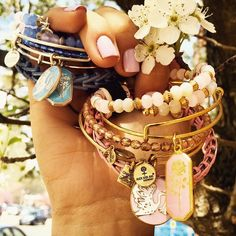 ALEX AND ANI #bangles #charms #pastels