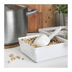 TILLSLUTA Dry food jar with lid, white - IKEA