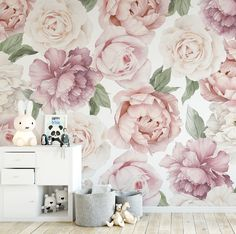 Peony and Rose Wallpaper