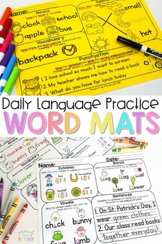 Word Mats resources