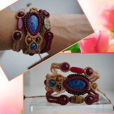 Lovely handmade bracelet with many different stones sodalite,agate,tiger eye. Great gift for ur beloved ones.isn it? Have check my page https://www.facebook.com/MacrameMarina-451909684994599/