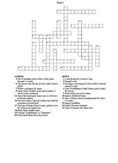 Crossword Puzzle, Book 1-Outlander:  Outlanderfan.com