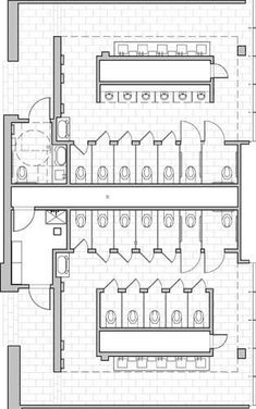 Ideas For Public Bathroom Layout Plan The Plan, Plan Wc, How To Plan, Bathroom Layout Plans, Bathroom Floor Plans, Plans Architecture, School Architecture, Wc Public, Toilet Plan