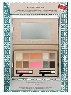 Kristofer Buckle Always Flawless Day to Night Palette 8 Eyeshadows, 2 Blushes, 1 Mini Lip Gloss and 1 Mini Mascara >>> To view further for this item, visit the image link.