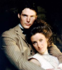 "SOMEWHERE IN TIME, from left: Christopher Reeve, Jane Seymour, promotional photo from ""Somewhere in Time"", the 1980 film starring Seymour and ""Superman"" actor Christopher Reeve. Famous Movies, Old Movies, Love Movie, Movie Tv, Lady Jane Seymour, Superman Actors, The Time Traveler's Wife, Travel Movies, Christopher Reeve"