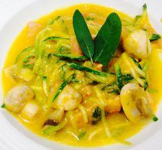 Healthy Carbonara: Butternut Squash, Bacon, Mushroom and Sage pasta