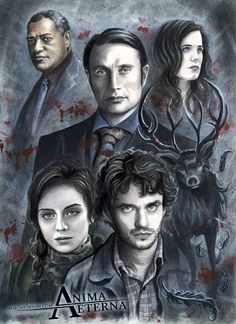 "animaeterna: ""Examples of my work: Hannibal Traditional Art - Watercolors & Pastel Pencils All commissions are traditionally painted with watercolors and pastel pencils. The client receives the. Hannibal Tv Series, Nbc Hannibal, Hannibal Lecter, Sir Anthony Hopkins, Pastel Pencils, Hugh Dancy, Watercolor Paintings, Watercolors, Traditional Art"