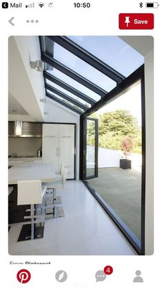 Do you already have an outdoor dining room? In this article, we will share you 7 Great Ideas For Outdoor Kitchens - Eat Outdoors With Family. West London, Bright Homes, Container House Design, Villa, Roof Light, House Extensions, Glass Kitchen, Design Studio, Skylight